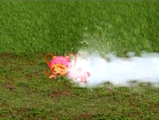Milli gets sprayed