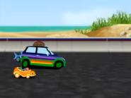 Striped car