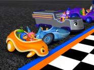 Sad shark car