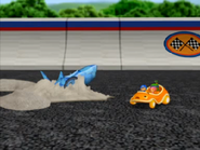 Shark car is stuck