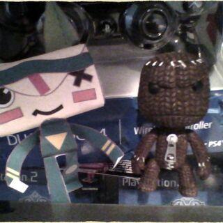 My Papercraft Iota and Sackboy figure!