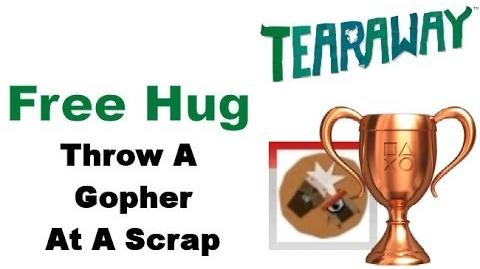 Tearaway PS VITA - 1080P - How To Get The Free Hug BRONZE Trophy!