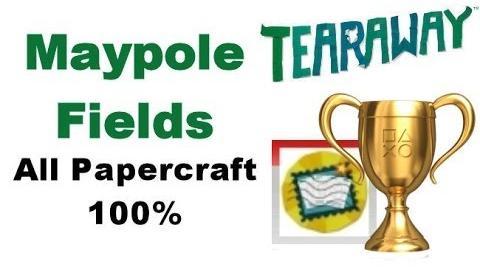 Tearaway PS VITA - 1080P - Maypole Fields - ALL Papercraft Locations!