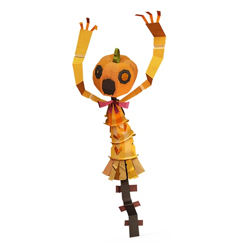 A modified pumpkin head