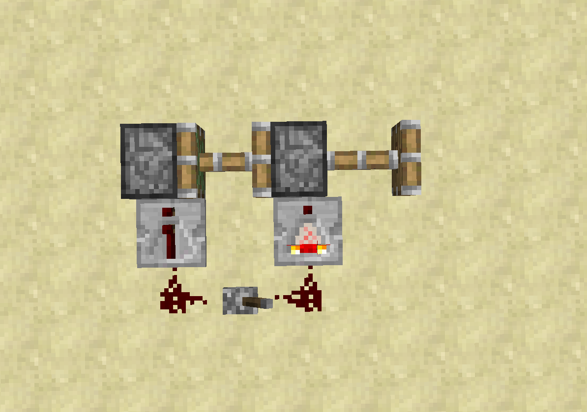 0 Tick Pulses Technical Minecraft Wikia Fandom Powered By Two Way Switch Redstone When The Lever Is Switched Off There Will First Be A One R Delay From Repeater And Comparator Before Anything Else Happens