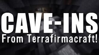 MINECRAFT UNMODDED Cave-ins from Terrafirmacraft - Vanilla Minecraft!