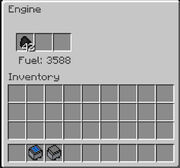 Minecart with Engine GUI