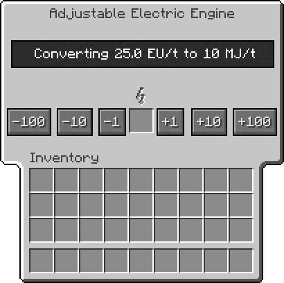 Adjule Electrical Engine Gui