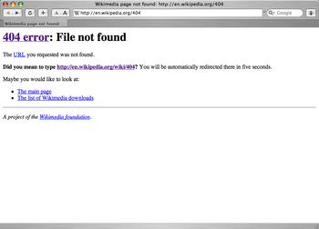 Safari 404 error