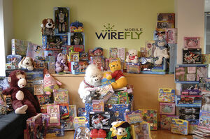 Wirefly donations to Toys for Tots