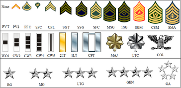 United States Army Ranks and Insignia Chart