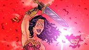 Wonder Woman symbolizes the girls' victory