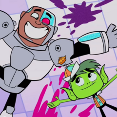 Cyborg and Beast Boy become friends again.