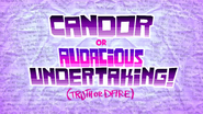 Candor or audacious undertaking slumber party