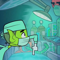 Beast Boy tries out as a surgeon...
