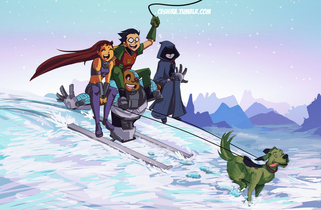 Image - Teen titans second christmas by ceshira-d6wejt5.jpg | Teen ...