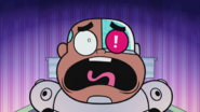 Little Cyborg screaming