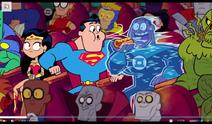 Superman congelando o lanterna verde