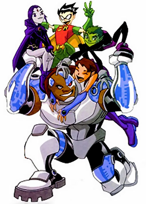 Image result for cyborg teen titans