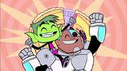 Pie Bros Cyborg and BB
