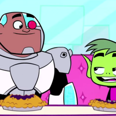 Beast Boy is confident he knows what gift Cyborg wants.
