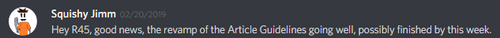Article Guidelines (Discord)