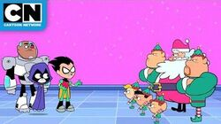 Teen Titans GO! Santa Tries to Take Over Halloween Cartoon Network