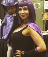 Tara Strong with fan at Stan Lee Comic Con