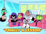 Finally a Lesson