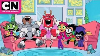 Raven's Father Visits Teen Titans GO! Cartoon Network