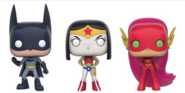 Robin as BM, Raven as WW, Starfire as TF