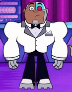 Cyborg's prom suit
