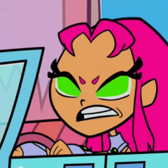 Starfire is angered.