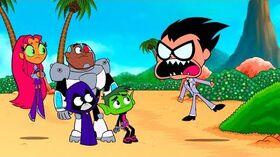 """Teen Titans Go! - """"Crazy Desire Island"""" Clip 1"""