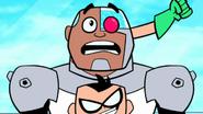 Robin beats Cyborg up