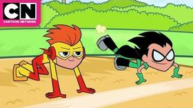Teen Titans Go Robin Kicks Out the Flash Cartoon Network