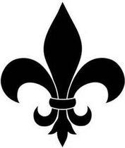 Symbols fleur-de-lis