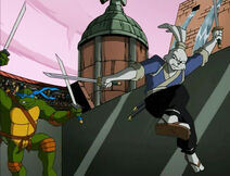Teenage-mutant-ninja-turtles-season-2-24-the-big-brawl-part-2-leonardo-vs-miyamoto-usagi-yojimbo-tmnt-2003