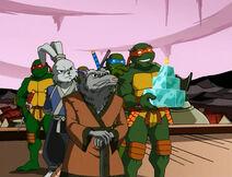Teenage-mutant-ninja-turtles-season-2-26-the-big-brawl-part-4-raphael-wins-trophy-leonardo-splinter-miyamoto-usagi-yojimbo-raphael-donatello-tmnt-2003