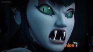 Karai Revealing Her Semi-Human Form When Angered