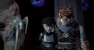 Karai Held Prisoner By Super Shredder And Tiger Claw