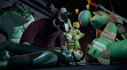 Splinter And Leonardo With Unconscious Karai