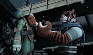 Tiger Claw Holding Unconscious Leonardo