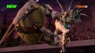 Super Shredder Punches Dark Leonardo