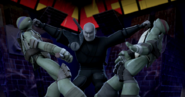 Tatsu Punches Raph And Donnie