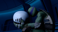Donatello Sad At Fugitoid's Head