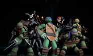 Turtles April Serpent Karai And Casey Rescue Team