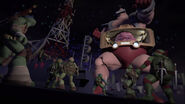 Krang Activates His Giant Mode