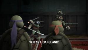 Mutant Gangland Title Scene