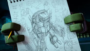 Donnie's Concept Art Of The Turtle Mech